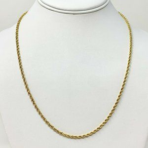 Jewelry - 14k Gold Solid Diamond Cut Rope Chain Necklace